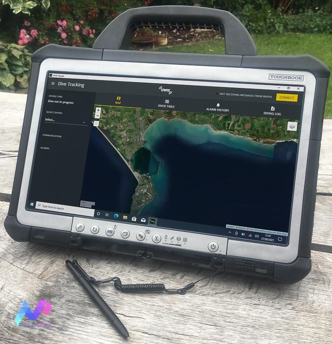 Panasonic Toughbook with UWIS Tracker